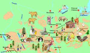 Karte Tegernsee Schliersee Samerberg Blauberge